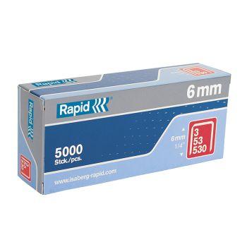Rapid Type 53 6mm Galvanised Staples Box 5000 - RPD536B5000