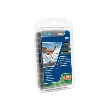 Rapid VR22 Fence Hog Rings Pack 1100 Green - RPDVR22GR110