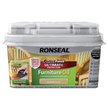 Ronseal Perfect Finish Hardwood Garden Furniture Oil Teak 750ml - RSLGFOT750