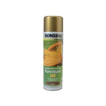 Ronseal Hardwood Garden Furniture Oil Natural Clear Aerosol 500ml - RSLHFONCAE