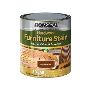 Ronseal Ultimate Protection Hardwood Garden Furniture Stain Deep Mahogany 750ml - RSLHWFSDM750