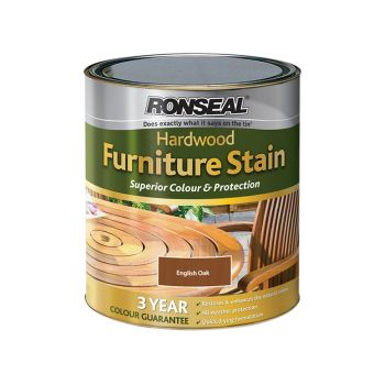 Ronseal Ultimate Protection Hardwood Garden Furniture Stain English Oak 750ml - RSLHWFSDO750