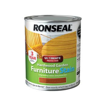 Ronseal Ultimate Protection Hardwood Garden Furniture Stain Natural Cedar 750ml - RSLHWFSNC750