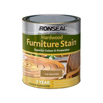Ronseal Ultimate Protection Hardwood Garden Furniture Stain Natural Matt 750ml - RSLHWFSNM750