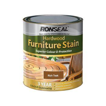 Ronseal Ultimate Protection Hardwood Garden Furniture Stain Rich Teak 750ml - RSLHWFSRT50