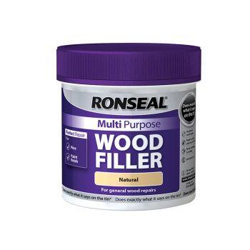 Ronseal Multi Purpose Wood Filler Tub Natural 465g - RSLMPWFN465