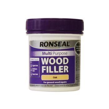 Ronseal Multi Purpose Wood Filler Tub Oak 250g - RSLMPWFO250G