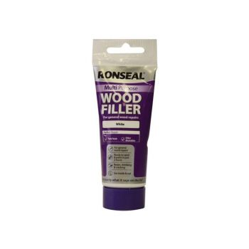 Ronseal Multi Purpose Wood Filler Tube White 100g - RSLMPWFW100G
