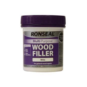 Ronseal Multi Purpose Wood Filler Tub White 250g - RSLMPWFW250G