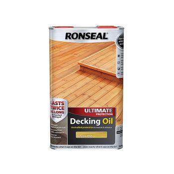 Ronseal Ultimate Protection Decking Oil Natural Pine 5 Litre - RSLUDONP5L