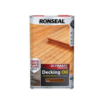 Ronseal Ultimate Protection Decking Oil Teak 5 Litre - RSLUDOT5L