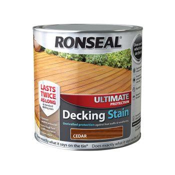 Ronseal Ultimate Protection Decking Stain Cedar 2.5 Litre - RSLUDSCE25L