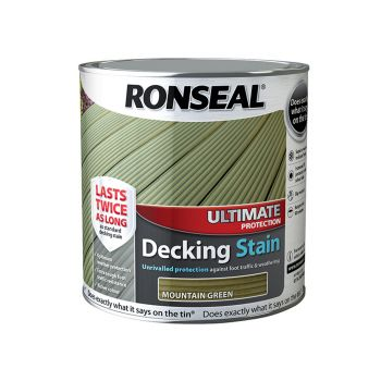 Ronseal Ultimate Protection Decking Stain Mountain Green 2.5 Litre - RSLUDSMG25L