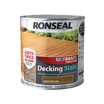 Ronseal Ultimate Protection Decking Stain Medium Oak 2.5 Litre - RSLUDSMO25L
