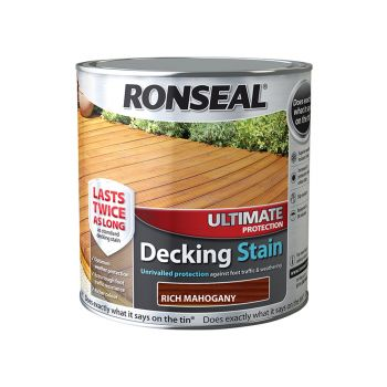 Ronseal Ultimate Protection Decking Stain Rich Mahogany 2.5 Litre - RSLUDSRM25L