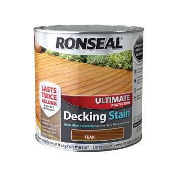Ronseal Ultimate Protection Decking Stain Teak 2.5 Litre - RSLUDSRT25L