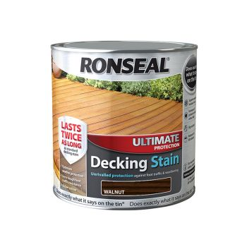 Ronseal Ultimate Protection Decking Stain Walnut 2.5 Litre - RSLUDSW25L