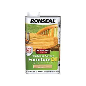 Ronseal Ultimate Protection Hardwood Garden Furniture Oil Natural 1 Litre - RSLUHWGFOC1L