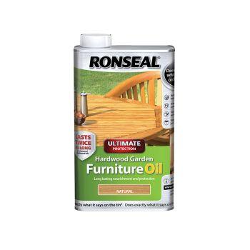 Ronseal Ultimate Protection Hardwood Garden Furniture Oil Natural Clear 500ml - RSLUHWGFOCLR