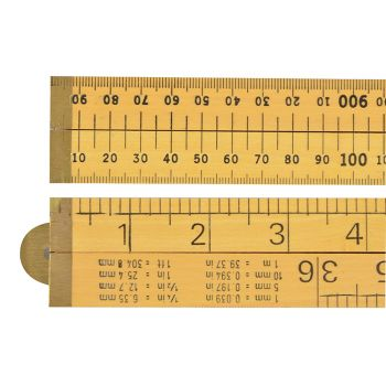 R.S.T. Wooden 4 Fold Rule 1m / 39in (Loose) - RST073
