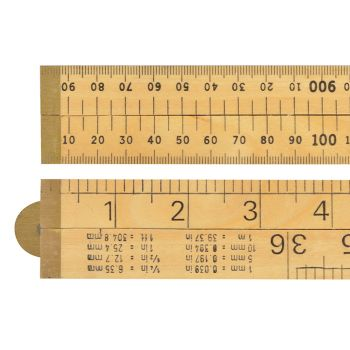 R.S.T. Wooden 4 Fold Rule 1m / 39in (Blister packed) - RST073P