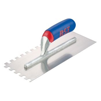 R.S.T. Notched Trowel Square 6mm² Soft Touch Handle 11 x 4.1/2in - RST8002ST