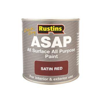 Rustins ASAP Paint Red 500ml - RUSASAPR500