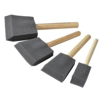 Rustins Foam Brush Set (1, 2, 3 & 4in) - RUSFBSET