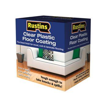 Rustins Clear Plastic Floor Coating Kit Gloss 1 Litre - RUSPFCFK1L