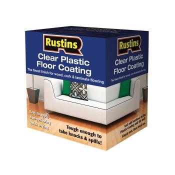 Rustins Clear Plastic Floor Coating Kit Satin 1 Litre - RUSPFCS1L