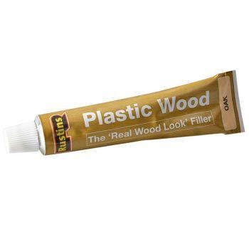 Rustins Plastic Wood Tube Oak 20g - RUSPWTUBEO