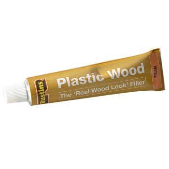 Rustins Plastic Wood Tube Teak 20g - RUSPWTUBET