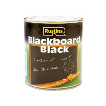 Rustins Quick Dry Blackboard Black 500ml - RUSQDBB500