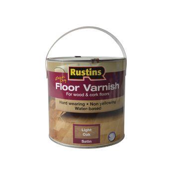Rustins Quick Dry Coloured Floor Varnish Light Oak 2.5 Litre - RUSQDCFVLO25