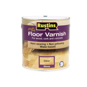 Rustins Quick Dry Floor Varnish Gloss 2.5 Litre - RUSQDFVG25L