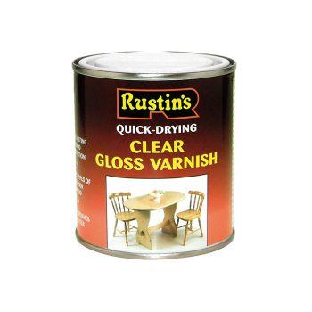 Rustins Quick Dry Varnish Gloss Clear 1 Litre - RUSQDVGC1L