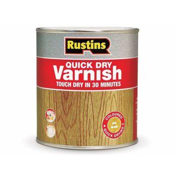 Rustins Quick Dry Varnish Gloss Clear 500ml - RUSQDVGC500