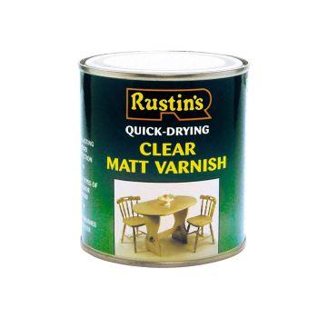 Rustins Quick Dry Varnish Matt Clear 250ml - RUSQDVMC250