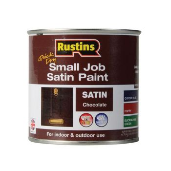 Rustins Quick Dry Small Job Satin Paint, Chocolate 250ml - RUSSJPSCHOQD