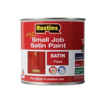 Rustins Quick Dry Small Job Satin Paint, Poppy 250ml - RUSSJPSPOPQD
