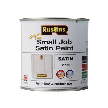 Rustins Quick Dry Small Job Satin Paint, White 250ml - RUSSJPSWHQD