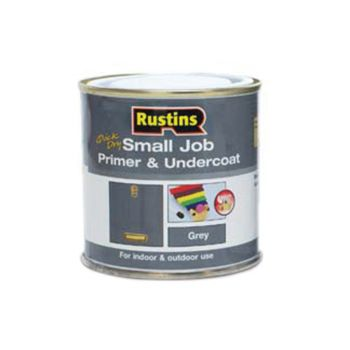Rustins Small Job Primer & Undercoat Grey 250ml - RUSSJPUGY250