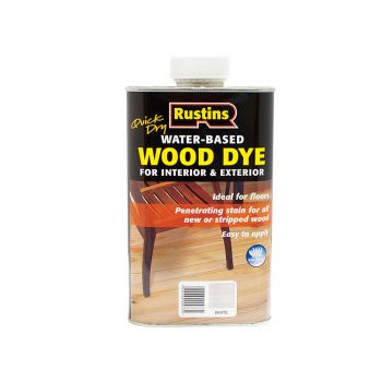 Rustins Quick Dry White Wood Dye 2.5 Litre - RUSWDWH25L