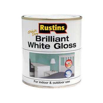 Rustins Quick Dry Brilliant White Gloss 500ml - RUSWGWB500