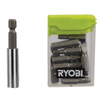Ryobi Flat Pack Furniture Screwdriver Bit Set 16 Piece - RYBRAK16FP