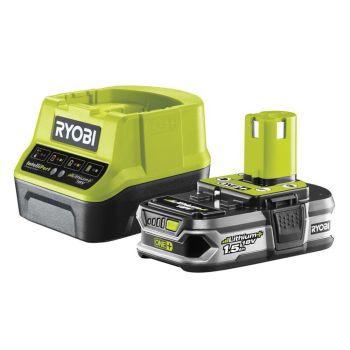 Ryobi ONE+ Compact Charger 18V & 1 x 18V 1.5Ah Li-ion Battery - RYBRC1812015