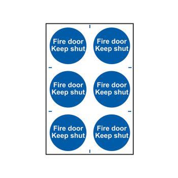 Scan Fire Door Keep Shut - PVC 200 x 300mm - SCA0151