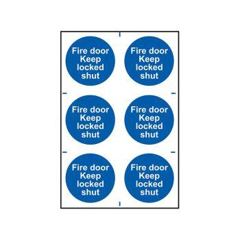 Scan Fire Door Keep Locked Shut - PVC 200 x 300mm - SCA0153