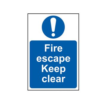 Scan Fire Escape Keep Clear - PVC 200 x 300mm - SCA0158