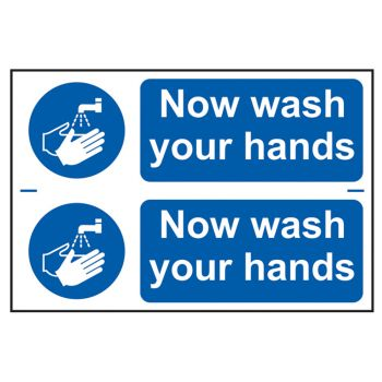 Scan Now Wash Your Hands - PVC 300 x 200mm - SCA0404